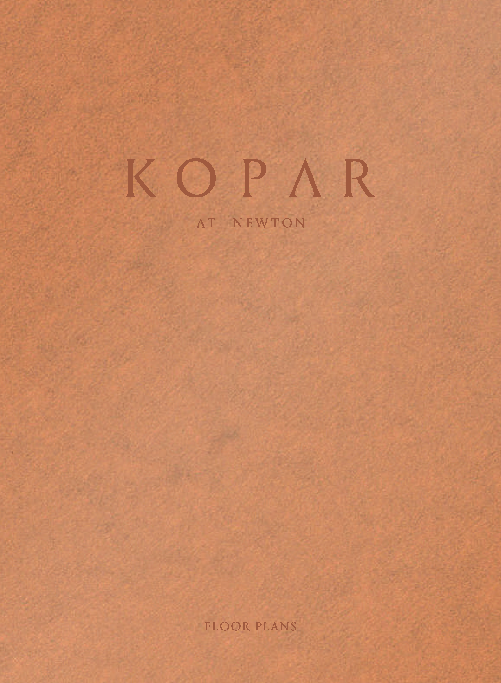 Kopar at Newton Brochure cover page