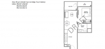 Kopar at newton 1 bedroom Floor Plans type 1b1