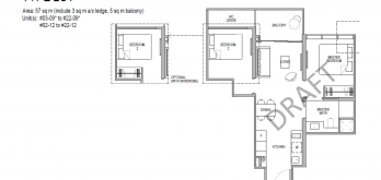 Kopar at newton 2 bedroom Floor Plans type 2c1