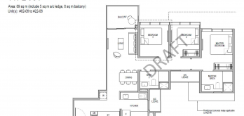Kopar at newton Floor Plans 3 bedroom type 3c1