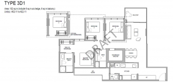 Kopar at newton Floor Plans 3 bedroom type 3d1