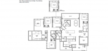 Kopar at newton Floor Plans 5 bedroom type 5L1a